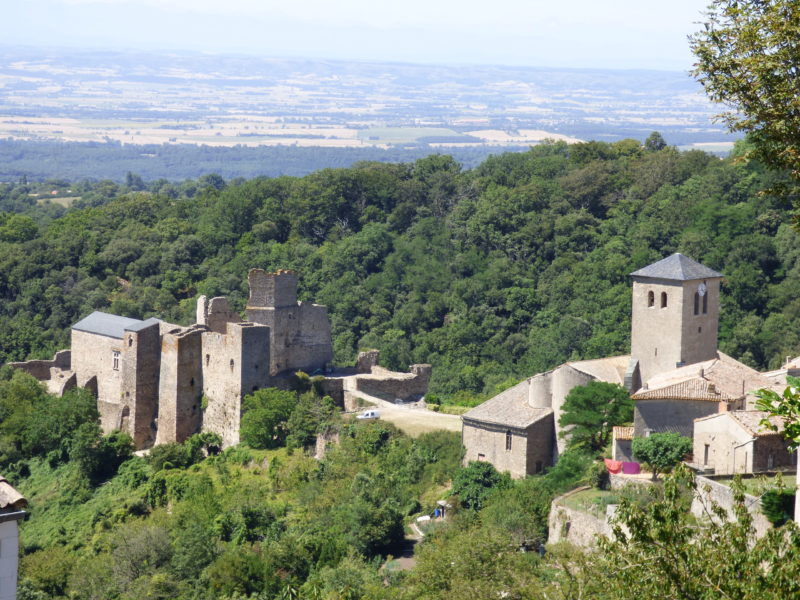 The castle of Saissac on the Black Mountain near Cracassonne