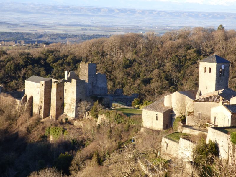Saissac and its Cathar castle near Carcassonne in the Aude