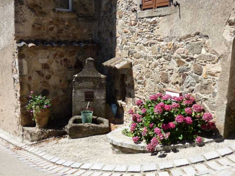 A fountain in the village of Saissac in Aude
