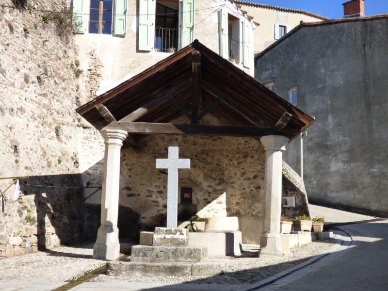 A wash house in the village of Saissac on the Montagne Noire