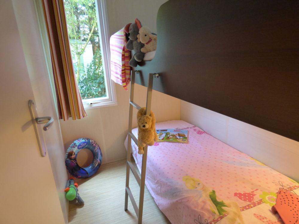 mobil home family près de Carcassonne dans l'Aude et la chambre des enfants