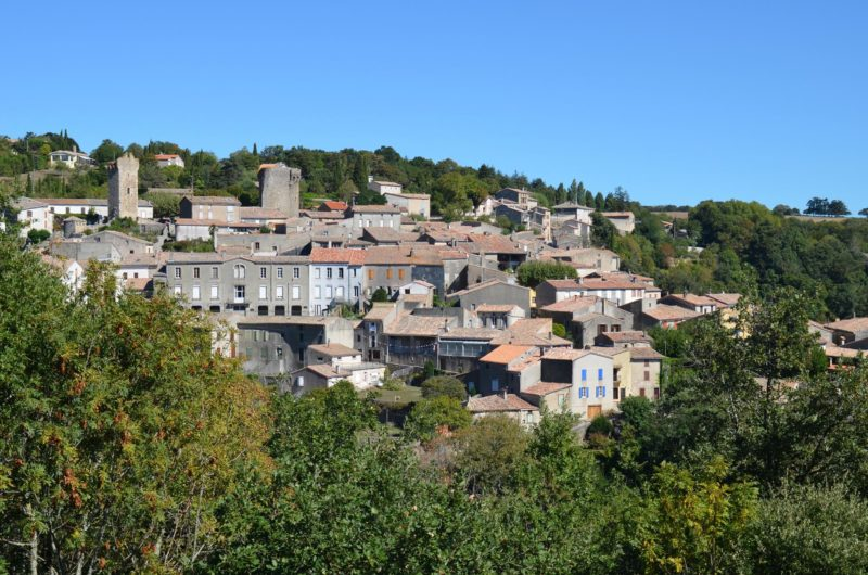 The village of Saissac in the aude near Carcassonne